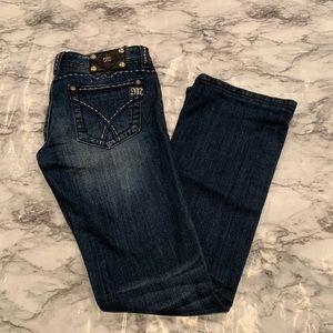 Miss Me Jeans - Miss Me Dark Wash Bootcut Jeans Stitch Pocket